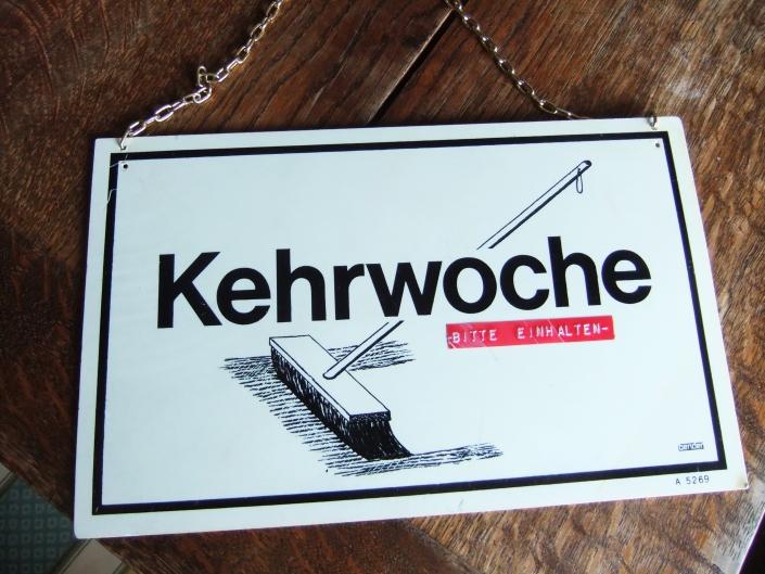 Kehrwochenschild - Erna mit Mahl - Kulinarisches Kabarett in Esslingen