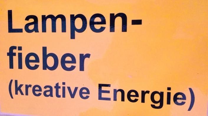 Sprech-Stimm-Workshop Esslingen Schild Lampenfieber
