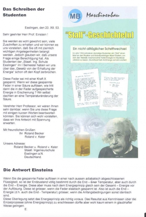 Erna Rational - Einstein Brief