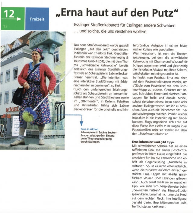 Erna Original haut auf den Putz - Straßenkabarett Esslingen