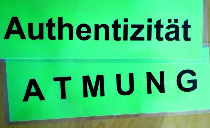 Schilder Authentizität Sprech-Stimm-Workshop Esslingen Sabine Becker-Brauer